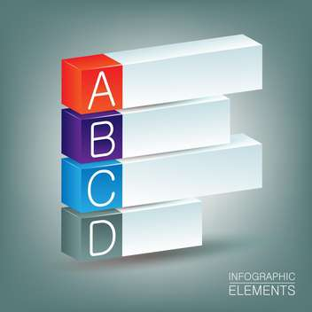 A,B,S,D steps process banners ,vector illustration - vector #132276 gratis