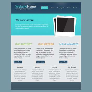 Web site design template, vector illustration - vector gratuit #132316