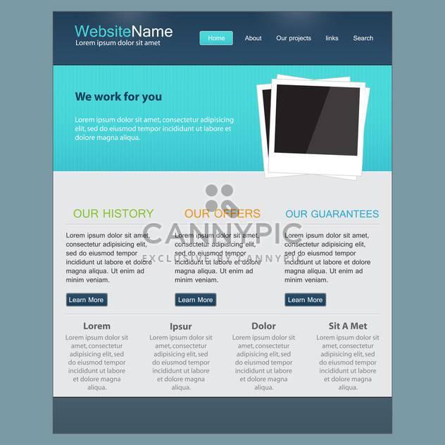 Vorlage für Website-Design, Vektor-illustration - Kostenloses vector #132316