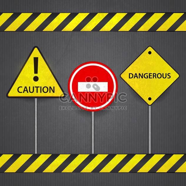 Vektor-Verkehrszeichen: stop, Vorsicht, gefährliche - Kostenloses vector #132346