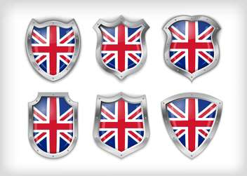 Different icons with flags of Great Britain,vector illustration - Free vector #132376