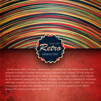 Colorful retro background with black frame - vector gratuit #132406