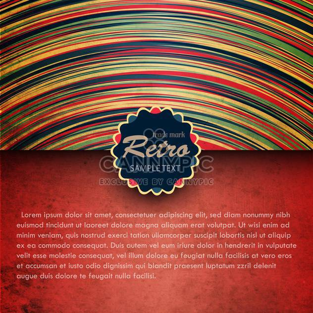 Colorful retro background with black frame - Free vector #132406
