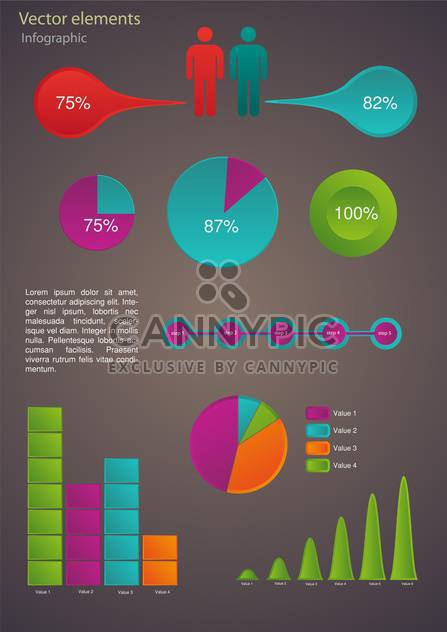 Business infographic elements - Free vector #132416
