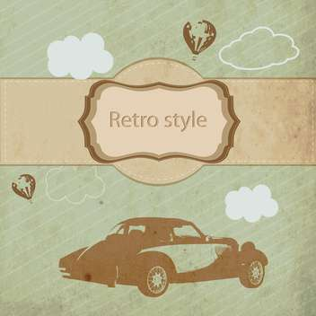 Vintage sports car in retro style vector background - бесплатный vector #132466
