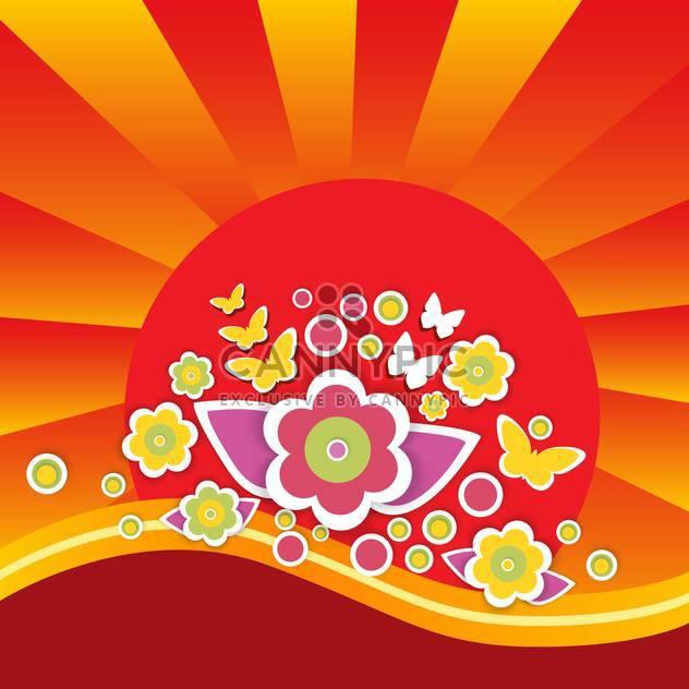 Vektor-Sommer-Blumen-Hintergrund - Kostenloses vector #132496