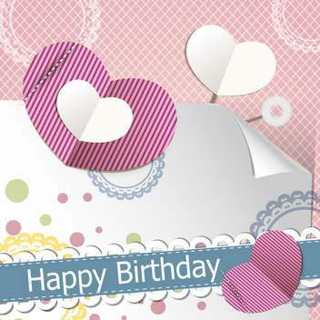 retro happy birthday scrapbook set - Free vector #132506