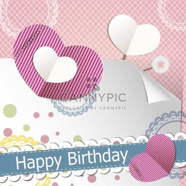 retro happy birthday scrapbook set - Free vector #132506