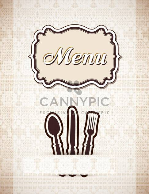 restaurant menu in retro style - Free vector #132596