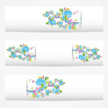 vector abstract floral cards collection - Free vector #132626