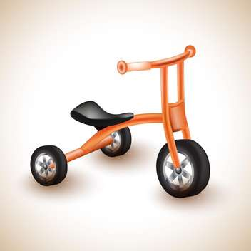 childish tricycle vector illustration - бесплатный vector #132666