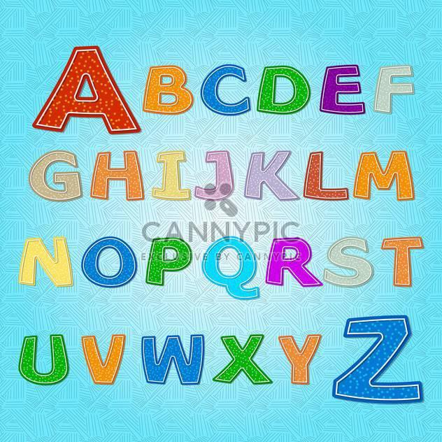 Bildung Alphabet Vektor Buchstaben Satz - Kostenloses vector #132696