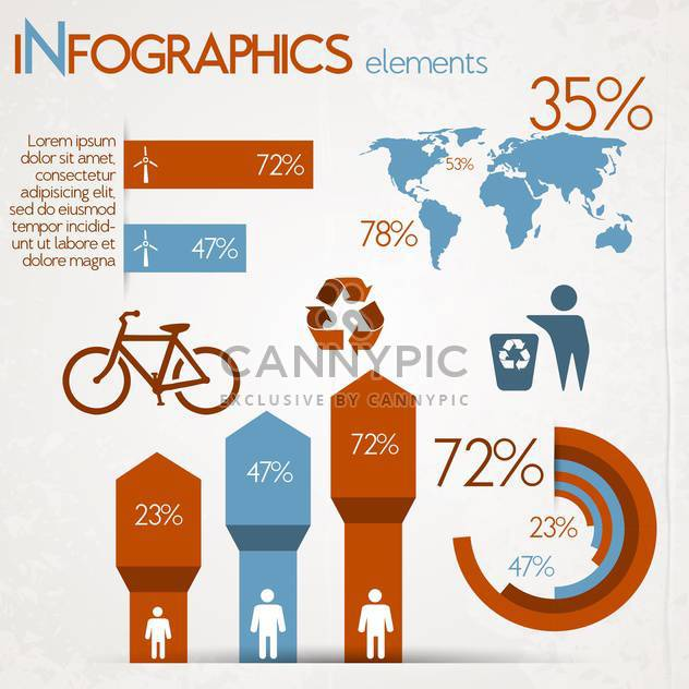 Ökologie-Infografiken-Diagramme, Symbole, Grafiken - Kostenloses vector #132756