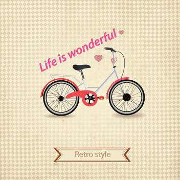 retro style bicycle background - vector gratuit #132766