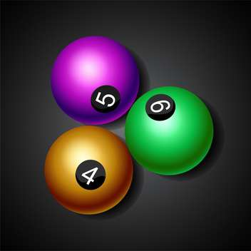billiard game balls illustration - Free vector #132786