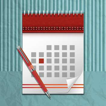 vector calendar icon and pen - vector gratuit #132826