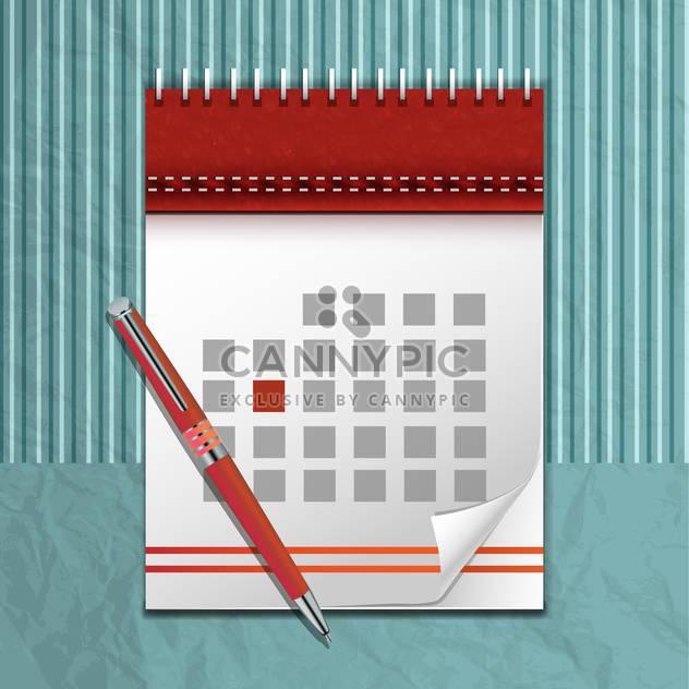 vector calendar icon and pen - Free vector #132826