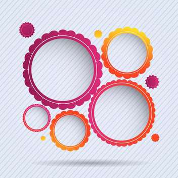collection of circle frames set background - vector gratuit #132836