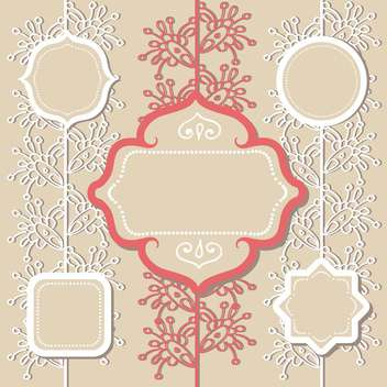 different vintage frames set - Free vector #132846