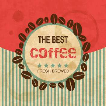 coffee beans design background - vector gratuit(e) #132856
