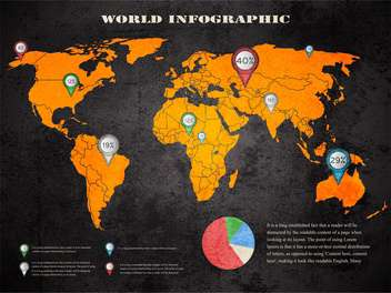world map and information graphics background - vector gratuit #132866