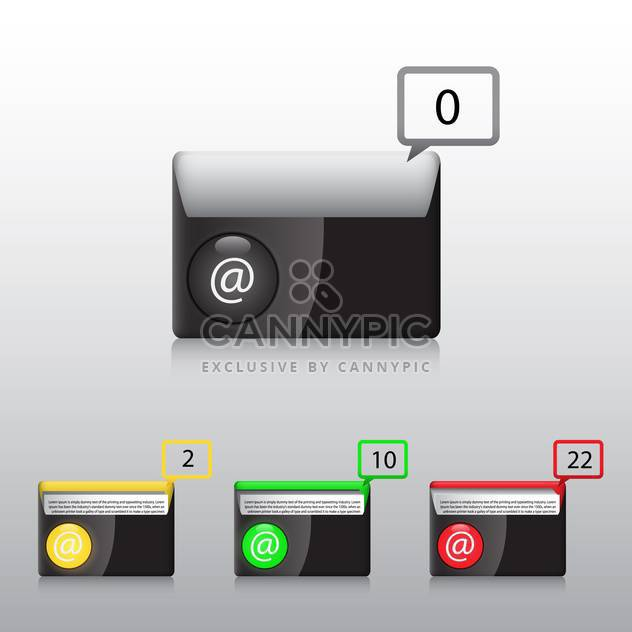 vector e-mail icons set - Free vector #132916