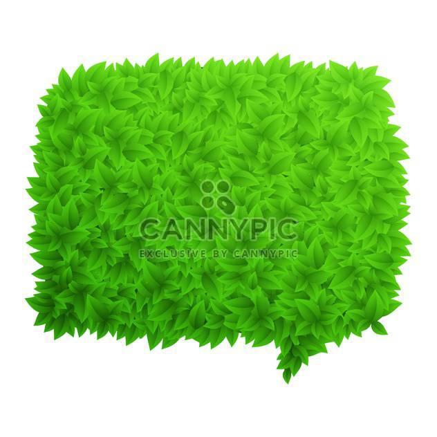 green foliage speech bubble - Free vector #132966