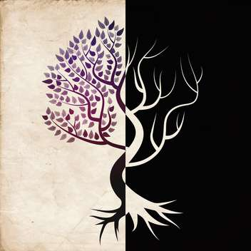 tree concept symbolizing the seasons - Free vector #133006