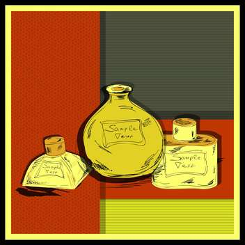 aroma perfume bottles set background - Free vector #133036