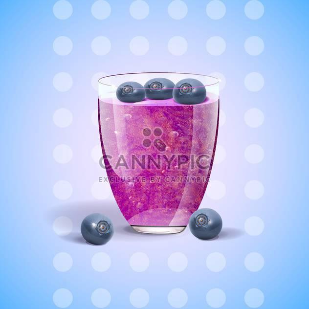 vector blueberries juice in glass - Free vector #133066