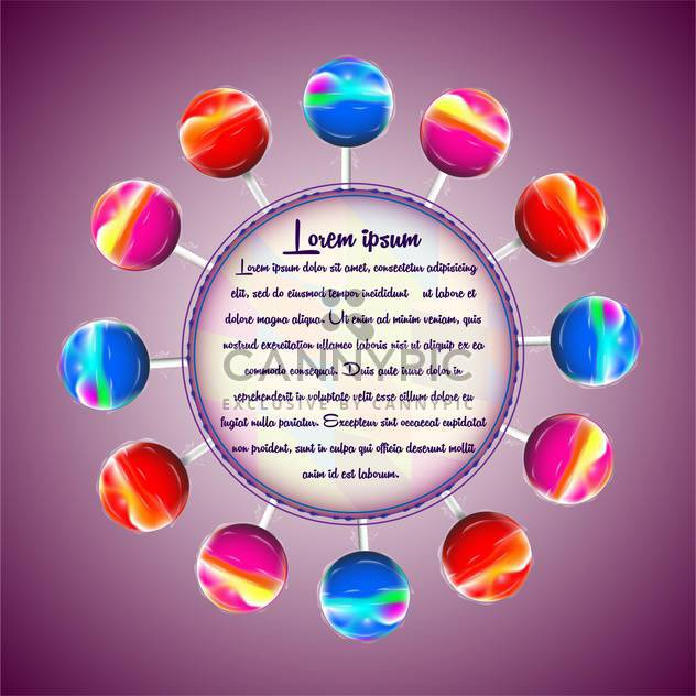 vector illustration of colorful lollipops - Free vector #133096