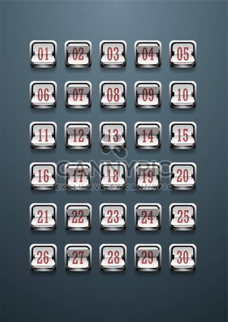 set of figures on mechanical scoreboard - Free vector #133146