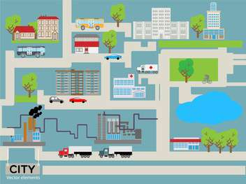 cartoon vector city street - vector gratuit #133156