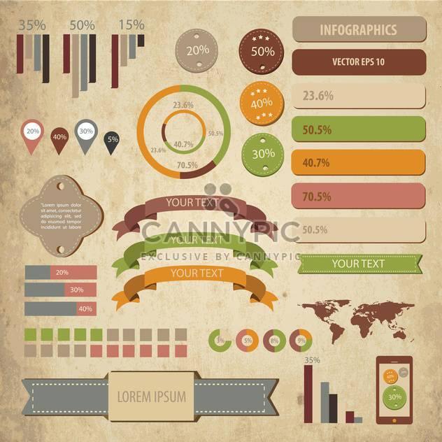 Geschäft Infographik Elemente festlegen - Kostenloses vector #133186