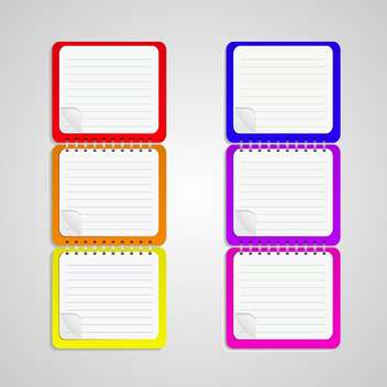 set of vector notebook papers - бесплатный vector #133206