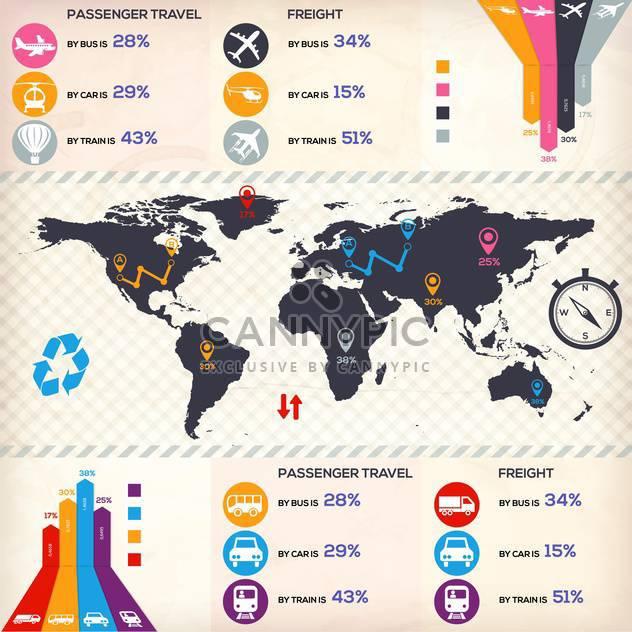 Geschäft Infographik Elemente festlegen - Kostenloses vector #133286