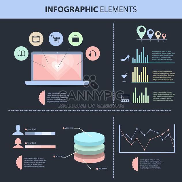 retro business infographics set - Free vector #133396