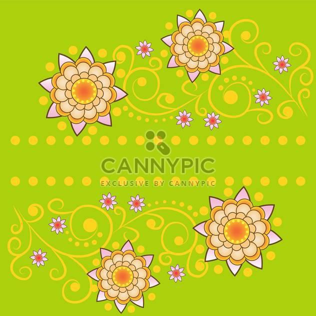 Vektor-Sommer-Blumen-Hintergrund - Free vector #133436
