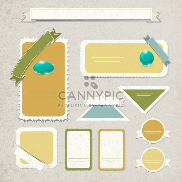 vector set of vintage frames background - Free vector #133456