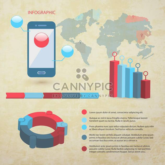 elements of business infographics set - Free vector #133466
