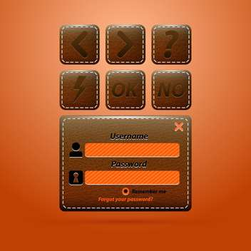 leather web business elements - Kostenloses vector #133486