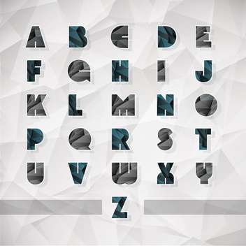 vector alphabet letters set background - Free vector #133496