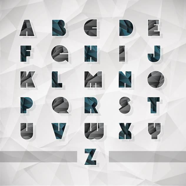 vector alphabet letters set background - vector #133496 gratis