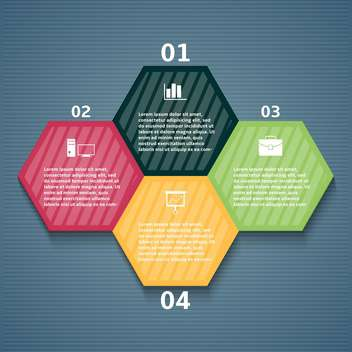 vector set of business infographic elements - Free vector #133576
