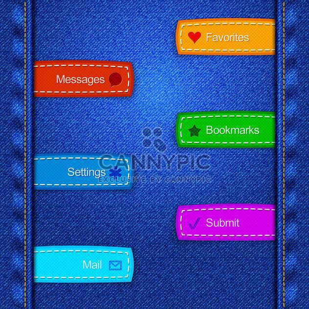 vector set of banners with inscriptions - Free vector #133586