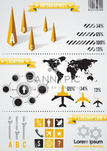 Elemente der betriebswirtschaftlichen Infographik Hintergrund festlegen - Kostenloses vector #133606