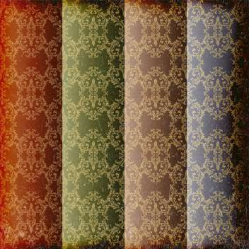 set of seamless damask patterns - vector #133646 gratis