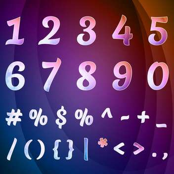 vector set of numbers collection - vector gratuit #133656