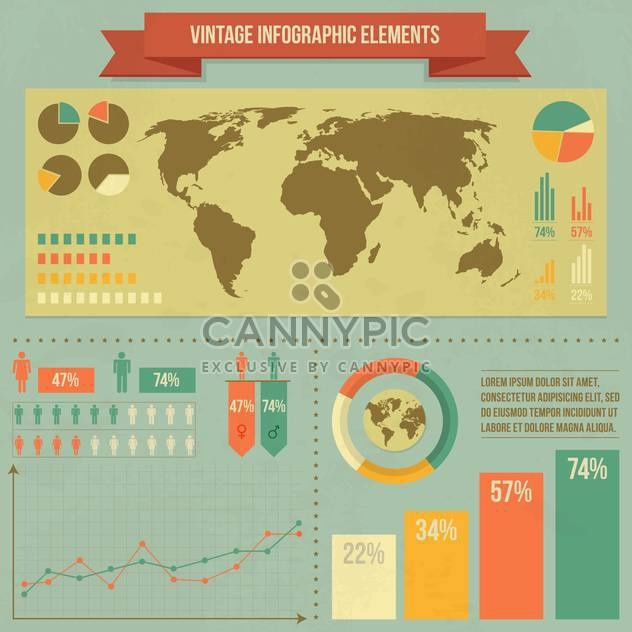 Satzelemente für Geschäft Infografiken - Kostenloses vector #133676