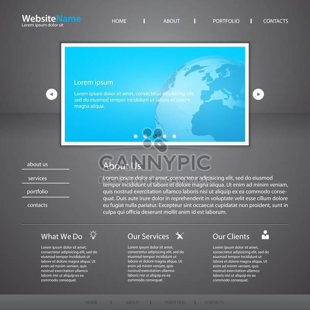 vector template of abstract website design - Free vector #133696